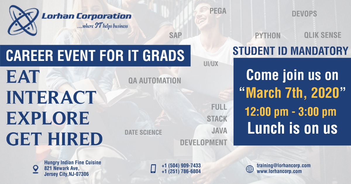 Networking Event for IT Grads – Join us for lunch to learn more on Training and Placements.